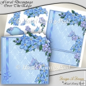 Floral Decoupage Over The Edge Card Front/Topper