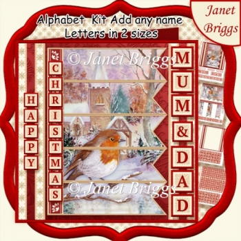 ROBIN & CHURCH Christmas 7.5 Quick Card Kit Create Any Name