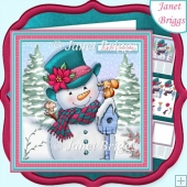 FROSTY FRIENDS 7.5 Christmas Decoupage & Insert Card Kit