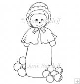 Snowlady - Digital Stamp