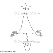 Christmas Tree 1 Clipart - Digital Stamp