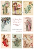 Toppers or ATC Cards - Art Nouveau Ladies