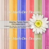Occassions 2 Card Stock Digital Papers