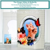 Ginger Kitten 3D Pop Out Concertina Box Card Kit & Envelope
