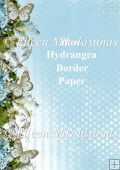 Blue Hydrangea Nature Border Backing Background Paper