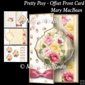Pretty Posy - Offset Front Card
