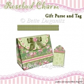 Rosebud Charm Gift Purse and Tag