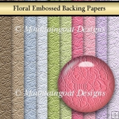 Floral Embossed Backing Papers