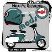 60's Mods in Blue