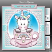 Tea Cup Unicorn Mini Kit - with age tags 1 to 6 years