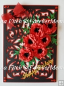 Poppy Layered Card TF0216 SVG, MTC, SCAL, Cameo, Cricut,ScanNCut