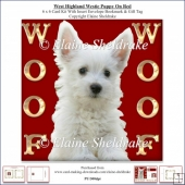 Woof Woof West Highland Terrier On Red 6 x 6 Card Kit