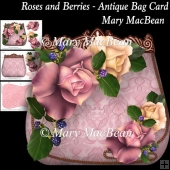Roses and Berries - Antique Bag Card