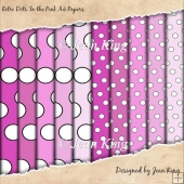Retro Dots In the Pink A4 Papers
