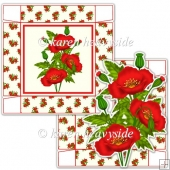Red Poppy 5 x 5 Square Box