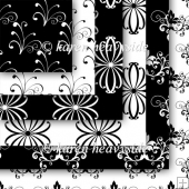 Black And White Set 2 Flourish Papers