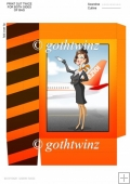 Air Hostess Orange Mini Bag