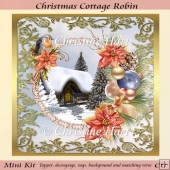 Christmas Cottage Robin Mini Kit CU