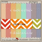 Beautiful Chevron Patterned Papers - A4 - Large Chevrons