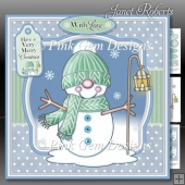 Snowman in Knitted Hat Mini Kit
