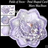 Fields of Snow - Petal Shaped Card