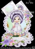 Cute Little Flower Garden Lucy Scalloped Round Easel Card