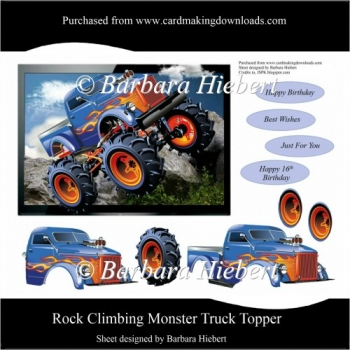 Rock Climbing Monster Truck Topper