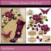 Antique Roses with Boot