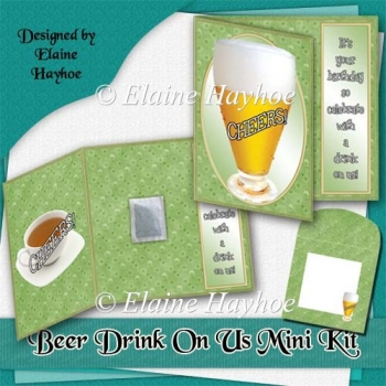 Beer Drink On Us Card Kit