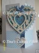 Decorative Baby Heart Topper for Boy 6 layered file,