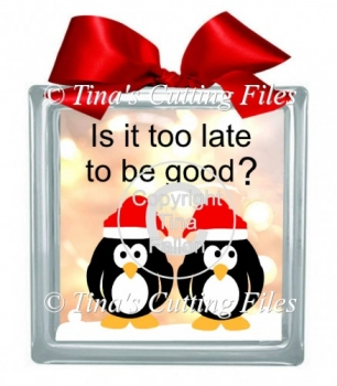 christmas Penguins too late to be good