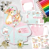 Spring Tea Pop Up Box Card