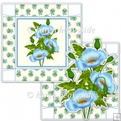 Blue Poppy 5 x 5 Square Box