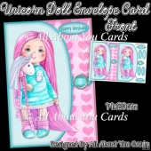 Unicorn Doll Envelope Card Front