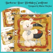 Barbecue Bear Birthday Cardfront