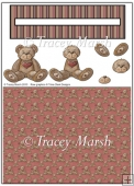 I Love Teddy Penny Slider Sheet