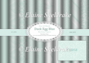 Assorted A4 Duck Egg Blue Backing Papers for Cards,Scrap & Craft