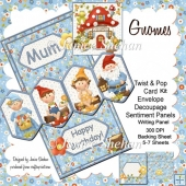 Garden Gnomes 3D Twist and Pop Card Kit