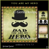 DAD you are my hero green topper 910
