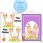 Giraffes in Love Card Topper