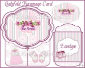 Cottage Chic NEW ARRIVAL Gatefold Pyramage Card Set