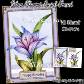 Blue Flower Card front