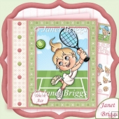 Anyone For Tennis 7.5 Decoupage Kit