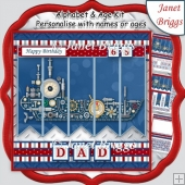 SHIP 7.5 Alphabet and Age Quick Card Kit Create Any Name