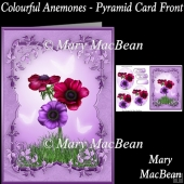 Colourful Anemones - Pyramid Card Front