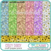Crazy Daisy Paper Pack