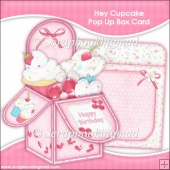 Hey Cupcake Pop Up Box Card