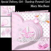 Special Delivery, Girl - Teardrop Pyramid Card