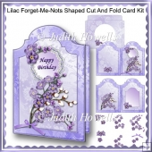 Lilac Forget-Me-Nots Shaped Cut And Fold Card Kit