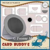 Plate Easel Card Template Set